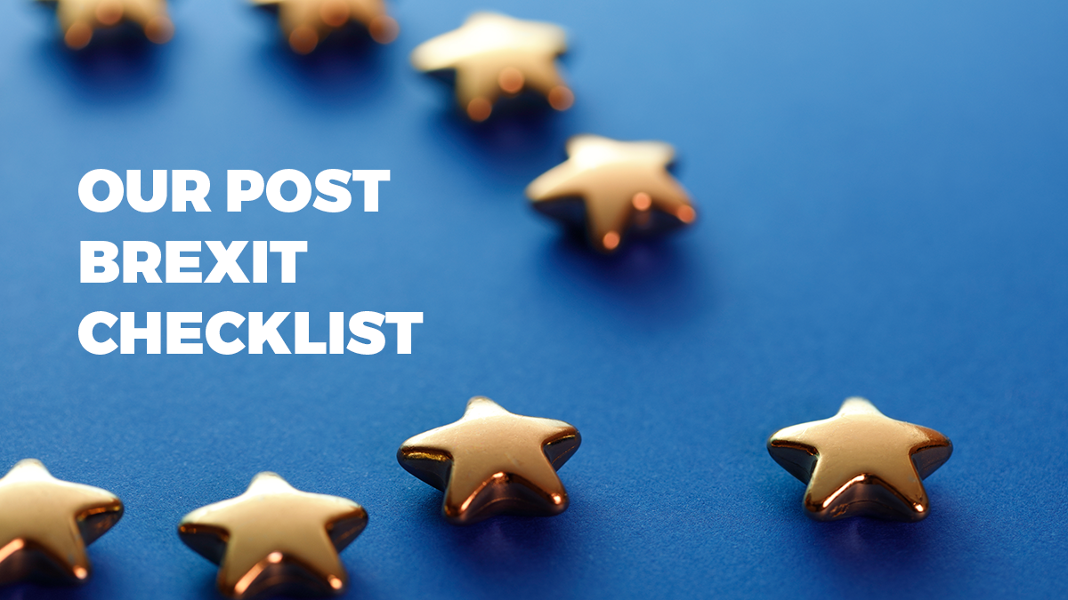 Our post Brexit checklist for ecommerce businesses